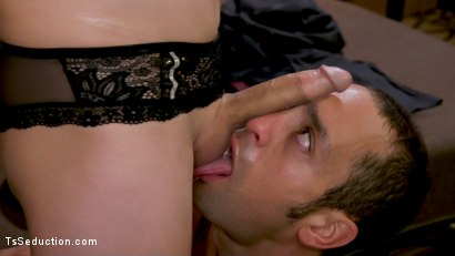 Photo number 5 from Hush Honey Inn: Casey Kisses Fucks An Unwittingly Willing DJ shot for TS Seduction on Kink.com. Featuring Casey Kisses and DJ in hardcore BDSM & Fetish porn.