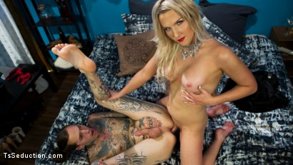 Photo number 27 from Paparazzi Down: Kayleigh Coxx Teaches A Hard Lesson To Ruckus shot for TS Seduction on Kink.com. Featuring Kayleigh Coxx and Ruckus in hardcore BDSM & Fetish porn.