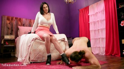 Photo number 1 from Big Girl Cock: Aspen Brooks Punishes Kip Johnson On Their Anniversary shot for TS Seduction on Kink.com. Featuring Kip Johnson and Aspen Brooks in hardcore BDSM & Fetish porn.