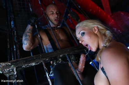 Photo number 3 from Caged Slaves in an Anal Threesome shot for Harmony Fetish on Kink.com. Featuring Victoria Summers, Valerie Fox and Mike Angelo in hardcore BDSM & Fetish porn.