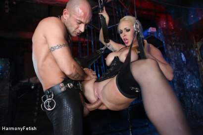 Photo number 6 from Caged Slaves in an Anal Threesome shot for Harmony Fetish on Kink.com. Featuring Victoria Summers, Valerie Fox and Mike Angelo in hardcore BDSM & Fetish porn.