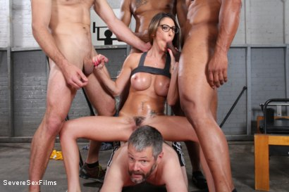 Photo number 12 from Cuckold Watches Wife get Gangbanged shot for Severe Sex Films on Kink.com. Featuring Dava Foxx, Jimmy Broadway, Jovan Jordan, Steve Rodgers and Robert Axel in hardcore BDSM & Fetish porn.
