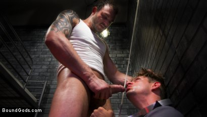 Photo number 17 from BOUND PRISON: Bad boy inmate Cliff Jensen breaks in new guard DelRay shot for Bound Gods on Kink.com. Featuring Cliff Jensen and Michael DelRay in hardcore BDSM & Fetish porn.