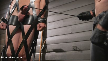 Photo number 18 from Pierce Paris Manhandles Tony Orlando  shot for Bound Gods on Kink.com. Featuring Pierce Paris and Tony Orlando in hardcore BDSM & Fetish porn.