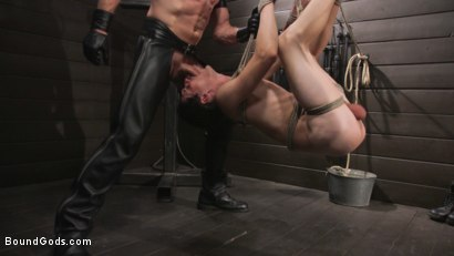 Photo number 37 from Pierce Paris Manhandles Tony Orlando  shot for Bound Gods on Kink.com. Featuring Pierce Paris and Tony Orlando in hardcore BDSM & Fetish porn.