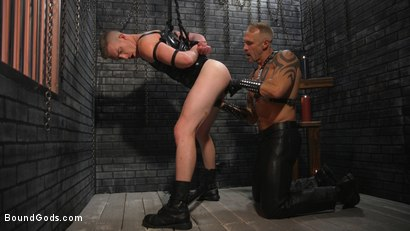 Photo number 2 from New To KinkMen Nick Fitt Gets Dominated and Fucked by Dallas Steele shot for Bound Gods on Kink.com. Featuring Dallas Steele and Nick Fitt in hardcore BDSM & Fetish porn.