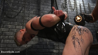 Photo number 4 from New To KinkMen Nick Fitt Gets Dominated and Fucked by Dallas Steele shot for Bound Gods on Kink.com. Featuring Dallas Steele and Nick Fitt in hardcore BDSM & Fetish porn.
