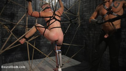 Photo number 6 from New To KinkMen Nick Fitt Gets Dominated and Fucked by Dallas Steele shot for Bound Gods on Kink.com. Featuring Dallas Steele and Nick Fitt in hardcore BDSM & Fetish porn.