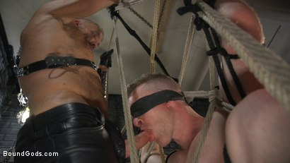 Photo number 7 from New To KinkMen Nick Fitt Gets Dominated and Fucked by Dallas Steele shot for Bound Gods on Kink.com. Featuring Dallas Steele and Nick Fitt in hardcore BDSM & Fetish porn.