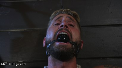 Photo number 8 from Wesley Woods gets plugged and edged in full suspension shot for Men On Edge on Kink.com. Featuring Wesley Woods in hardcore BDSM & Fetish porn.