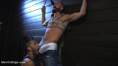 Photo number 2 from Wesley Woods gets plugged and edged in full suspension shot for Men On Edge on Kink.com. Featuring Wesley Woods in hardcore BDSM & Fetish porn.