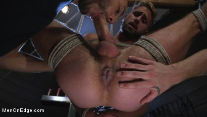 Photo number 13 from Wesley Woods gets plugged and edged in full suspension shot for Men On Edge on Kink.com. Featuring Wesley Woods in hardcore BDSM & Fetish porn.