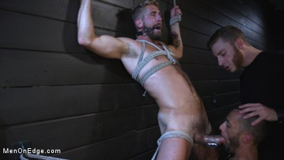 Photo number 7 from Wesley Woods gets plugged and edged in full suspension shot for Men On Edge on Kink.com. Featuring Wesley Woods in hardcore BDSM & Fetish porn.