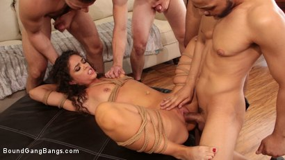 Photo number 6 from Second Chances: Victoria Voxxx Gets Every Hole Slammed In Her First DP shot for Bound Gang Bangs on Kink.com. Featuring Victoria Voxxx, Codey Steele , Donny Sins, Eddie Jaye, Mr. Pete and Zac Wild in hardcore BDSM & Fetish porn.