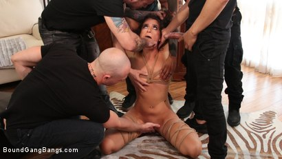 Photo number 2 from Second Chances: Victoria Voxxx Gets Every Hole Slammed In Her First DP shot for Bound Gang Bangs on Kink.com. Featuring Victoria Voxxx, Codey Steele , Donny Sins, Eddie Jaye, Mr. Pete and Zac Wild in hardcore BDSM & Fetish porn.