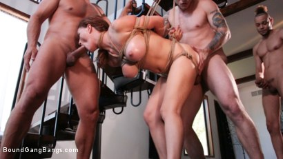Photo number 11 from Krissy Lynn Horny at Home Gets Tied Up and Gangbanged  shot for Bound Gang Bangs on Kink.com. Featuring Krissy Lynn, Donny Sins, Zac Wild, Ramon Nomar, Mr. Pete and Mark Zane in hardcore BDSM & Fetish porn.