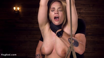Photo number 1 from Making Bondage Dreams Cum True shot for Hogtied on Kink.com. Featuring Hadley Viscara in hardcore BDSM & Fetish porn.
