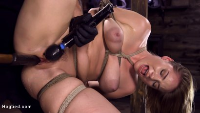 Photo number 12 from Making Bondage Dreams Cum True shot for Hogtied on Kink.com. Featuring Hadley Viscara in hardcore BDSM & Fetish porn.