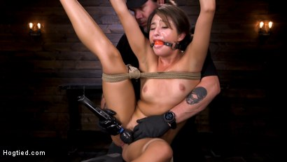 Photo number 15 from Young and Petite Slut in Grueling Bondage and Tormented shot for Hogtied on Kink.com. Featuring Isabella Nice in hardcore BDSM & Fetish porn.