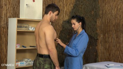 Photo number 2 from Army Games shot for cfnmeu on Kink.com. Featuring Vojenska Pani and Viktor Burek in hardcore BDSM & Fetish porn.