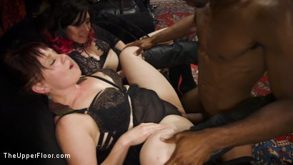 Photo number 9 from Drooling Electro Slut & The Anal Whore Serve a BDSM Orgy shot for The Upper Floor on Kink.com. Featuring Ramon Nomar, Kendra Spade, Riley Reyes and Aiden Starr in hardcore BDSM & Fetish porn.