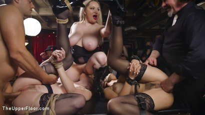 Photo number 14 from Uncollared Anal Cum Sluts Serve Swingers Ball  shot for The Upper Floor on Kink.com. Featuring Ramon Nomar, Kendra Spade, Riley Reyes and Aiden Starr in hardcore BDSM & Fetish porn.