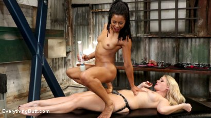 Photo number 18 from Anal Dungeon: Lisey Sweet's Big Ass Gets Worked by Mistress Kira Noir shot for Everything Butt on Kink.com. Featuring Lisey Sweet  and Kira Noir in hardcore BDSM & Fetish porn.