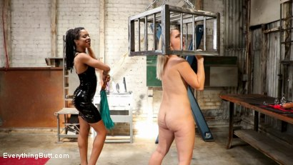 Photo number 5 from Anal Dungeon: Lisey Sweet's Big Ass Gets Worked by Mistress Kira Noir shot for Everything Butt on Kink.com. Featuring Lisey Sweet  and Kira Noir in hardcore BDSM & Fetish porn.