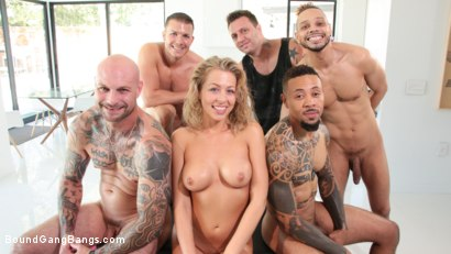 Photo number 31 from Zoey Monroe, Wrapped in Rope and Fucked by Five Cocks shot for Bound Gang Bangs on Kink.com. Featuring Zoey Monroe, Mark Zane, Cody Steele , Eddie Jaye, Donny Sins and Cyrus King in hardcore BDSM & Fetish porn.