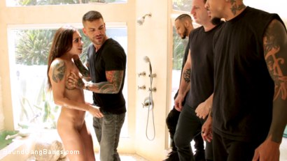 Photo number 1 from Anal Slut Kacie Castle Gang Fucked & Bound by Voracious Neighbors shot for Bound Gang Bangs on Kink.com. Featuring Kacie Castle, Mark Zane, Donny Sins, Zac Wild, Juan Lucho and Eddie Jaye in hardcore BDSM & Fetish porn.