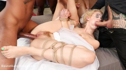 Wedding Nightmare: Chloe Cherry Gets Fucked by Fiance's Five Friends