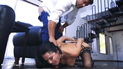 Photo number 1 from The Nymphomaniac's Lil Sister: Veronica Avluv Returns shot for  on Kink.com. Featuring Veronica Avluv, Victoria Voxxx and Ramon Nomar in hardcore BDSM & Fetish porn.
