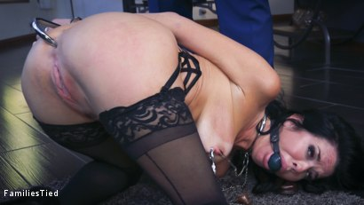 Photo number 2 from The Nymphomaniac's Lil Sister: Veronica Avluv Returns shot for  on Kink.com. Featuring Veronica Avluv, Victoria Voxxx and Ramon Nomar in hardcore BDSM & Fetish porn.
