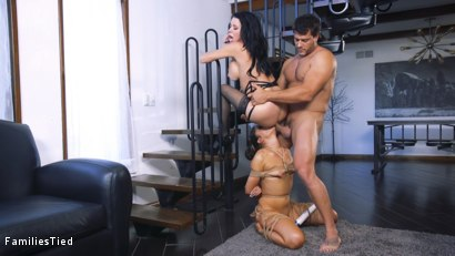 Photo number 20 from The Nymphomaniac's Lil Sister: Veronica Avluv Returns shot for  on Kink.com. Featuring Veronica Avluv, Victoria Voxxx and Ramon Nomar in hardcore BDSM & Fetish porn.