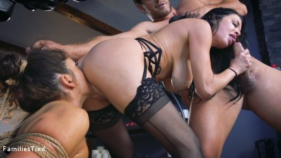 Photo number 21 from The Nymphomaniac's Lil Sister: Veronica Avluv Returns shot for  on Kink.com. Featuring Veronica Avluv, Victoria Voxxx and Ramon Nomar in hardcore BDSM & Fetish porn.