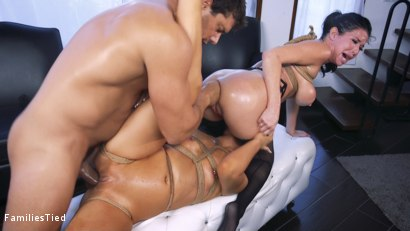 Photo number 26 from The Nymphomaniac's Lil Sister: Veronica Avluv Returns shot for  on Kink.com. Featuring Veronica Avluv, Victoria Voxxx and Ramon Nomar in hardcore BDSM & Fetish porn.
