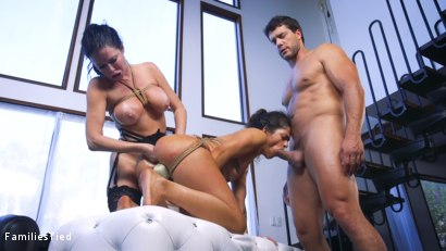 Photo number 29 from The Nymphomaniac's Lil Sister: Veronica Avluv Returns shot for  on Kink.com. Featuring Veronica Avluv, Victoria Voxxx and Ramon Nomar in hardcore BDSM & Fetish porn.