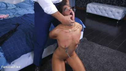 Photo number 10 from The Nymphomaniac's Lil Sister: Veronica Avluv Returns shot for  on Kink.com. Featuring Veronica Avluv, Victoria Voxxx and Ramon Nomar in hardcore BDSM & Fetish porn.