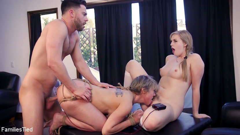 Families Tied - Teen Religious Fanatic Punishes Liberal Anal Step-Mommy - Kink