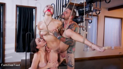 Photo number 28 from Devious Dana DeArmond Trains Her Step-Daughter For Anal Whore Service shot for  on Kink.com. Featuring Abella Danger, Juan Lucho and Dana DeArmond in hardcore BDSM & Fetish porn.