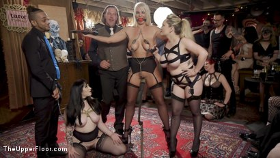 Photo number 1 from The Anal Submissive MILF And The Big-Titted 19 Year Old shot for The Upper Floor on Kink.com. Featuring Aiden Starr, Donny Sins, London River and Amilia Onyx in hardcore BDSM & Fetish porn.