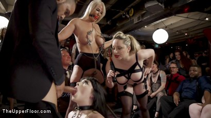 Photo number 3 from The Anal Submissive MILF And The Big-Titted 19 Year Old shot for The Upper Floor on Kink.com. Featuring Aiden Starr, Donny Sins, London River and Amilia Onyx in hardcore BDSM & Fetish porn.