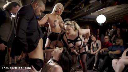 Photo number 4 from The Anal Submissive MILF And The Big-Titted 19 Year Old shot for The Upper Floor on Kink.com. Featuring Aiden Starr, Donny Sins, London River and Amilia Onyx in hardcore BDSM & Fetish porn.