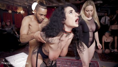 Photo number 11 from Teen Anal Slut Turned Out For Service at BDSM Swinger Soiree shot for The Upper Floor on Kink.com. Featuring Aiden Starr, Donny Sins, Arabelle Raphael and Chloe Cherry in hardcore BDSM & Fetish porn.