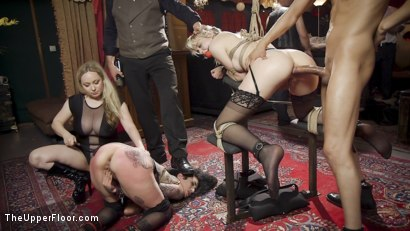 Photo number 24 from Teen Anal Slut Turned Out For Service at BDSM Swinger Soiree shot for The Upper Floor on Kink.com. Featuring Aiden Starr, Donny Sins, Arabelle Raphael and Chloe Cherry in hardcore BDSM & Fetish porn.