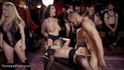 Photo number 7 from Teen Anal Slut Turned Out For Service at BDSM Swinger Soiree shot for The Upper Floor on Kink.com. Featuring Aiden Starr, Donny Sins, Arabelle Raphael and Chloe Cherry in hardcore BDSM & Fetish porn.