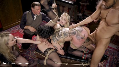 Photo number 20 from Anal Sluts Tied Down for Service at BDSM Swinger Party shot for The Upper Floor on Kink.com. Featuring Aiden Starr, Donny Sins, Chloe Cherry and Arabelle Raphael in hardcore BDSM & Fetish porn.