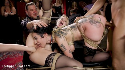 Photo number 27 from Anal Sluts Tied Down for Service at BDSM Swinger Party shot for The Upper Floor on Kink.com. Featuring Aiden Starr, Donny Sins, Chloe Cherry and Arabelle Raphael in hardcore BDSM & Fetish porn.