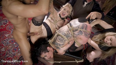 Photo number 23 from Anal Sluts Tied Down for Service at BDSM Swinger Party shot for The Upper Floor on Kink.com. Featuring Aiden Starr, Donny Sins, Chloe Cherry and Arabelle Raphael in hardcore BDSM & Fetish porn.
