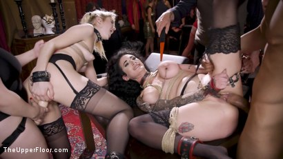 Photo number 6 from Anal Sluts Tied Down for Service at BDSM Swinger Party shot for The Upper Floor on Kink.com. Featuring Aiden Starr, Donny Sins, Chloe Cherry and Arabelle Raphael in hardcore BDSM & Fetish porn.